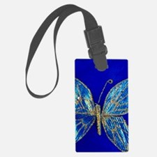 Glitter Butterfly Luggage Tag