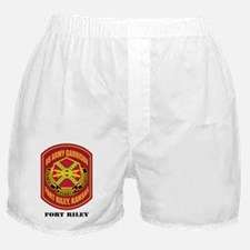 FortRiley-text Boxer Shorts