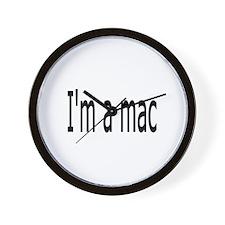 I'm a Mac Wall Clock