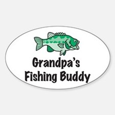 Grandpa's Fishing Buddy Oval Decal