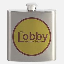 Golden Lobby Button Flask