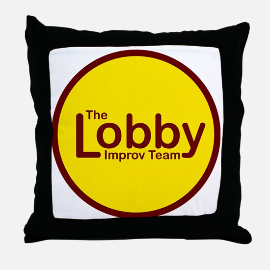 Golden Lobby Button Throw Pillow