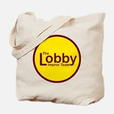 Golden Lobby Button Tote Bag