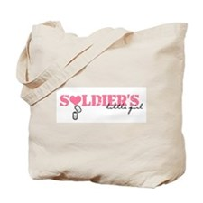 Soldier's Little Girl Tote Bag