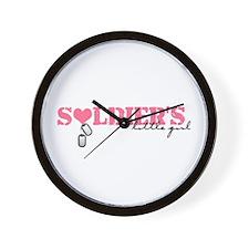 Soldier's Little Girl Wall Clock