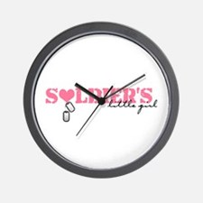 Soldier's Little Girl Wall Clock