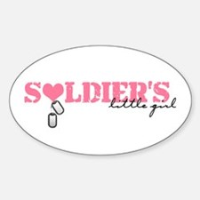 Soldier's Little Girl Oval Decal