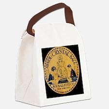 Vintage Crystal Ball Label Canvas Lunch Bag