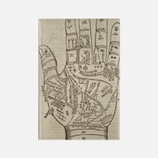 Palmistry Chart Rectangle Magnet