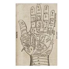 Palmistry Chart Postcards (Package of 8)