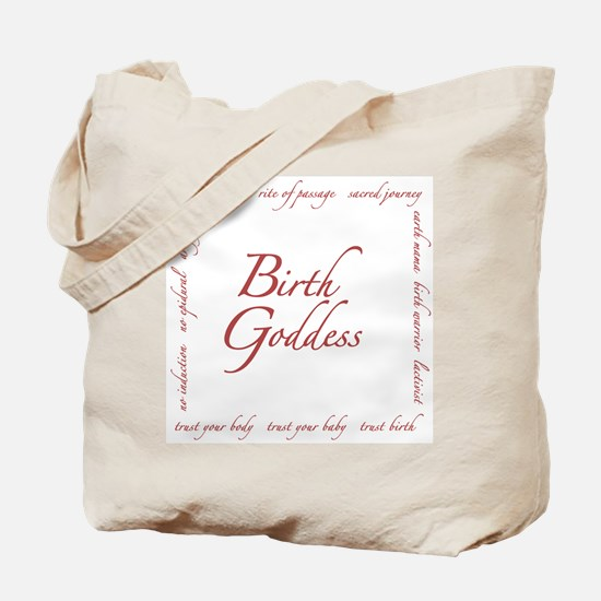 Birth Goddess Tote Bag