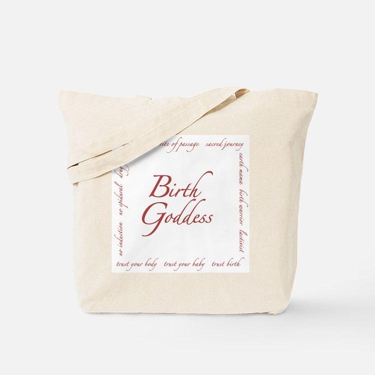 Birth Goddess Tote Bag