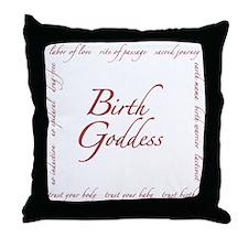 Birth Goddess Throw Pillow