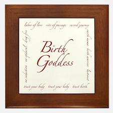 Birth Goddess Framed Tile