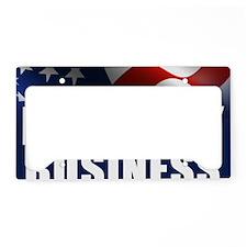 I Built My Business License Plate Holder