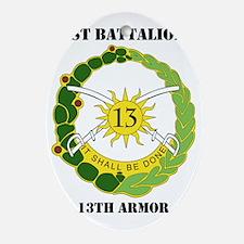 1stBn13thRegiment-text Oval Ornament