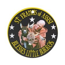 ST. FRANCIS OF ASSISI BLESSES Ornament (Round)