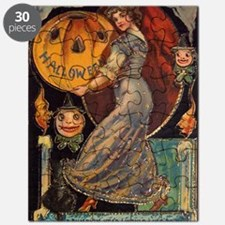 Vintage Halloween Card Puzzle