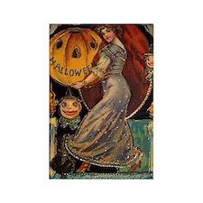 Vintage Halloween Card Rectangle Magnet