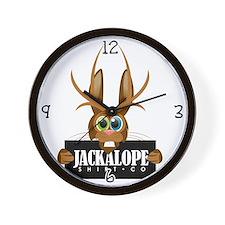 Cute Jackalope co Wall Clock