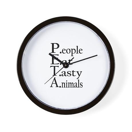 People Eat Tasty Animals Wall Clock