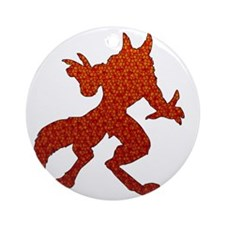 Red Werewolf Mosaic Round Ornament