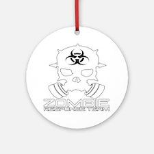 Zombie Apocalypse - Zombie Response Round Ornament