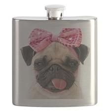 Funny Pug dog Flask