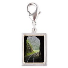 Light at the end of a train  Silver Portrait Charm