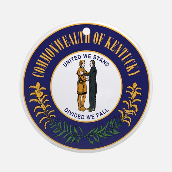 Kentucky State Seal Round Ornament