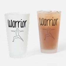 Warrior Asana Drinking Glass