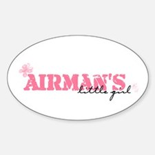 Airman's Little Girl Oval Decal
