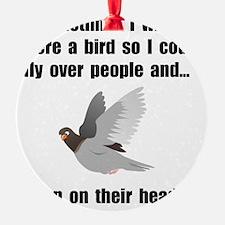 Bird Poop On Head Ornament