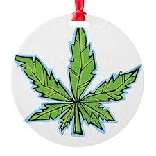 weedpals leaf design Ornament