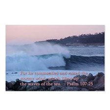 Psalm 107:25 Ocean Wave Postcards (Package of 8)