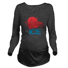 ICE Basic Logo Long Sleeve Maternity T-Shirt