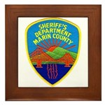 Marin Sheriff Framed Tile