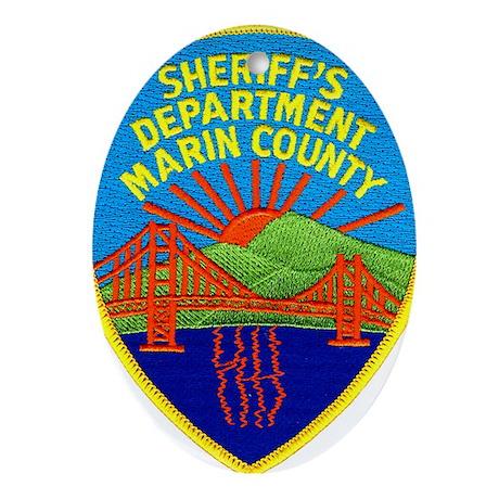 Marin Sheriff Oval Ornament