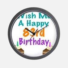 Wish me a happy 83rd Birthday Wall Clock