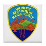 Marin Sheriff Tile Coaster
