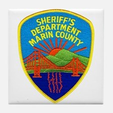 Marin Sheriff Tile Coaster