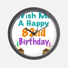 Wish me a happy 82nd Birthday Wall Clock