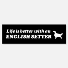 English Setter Bumper Bumper Bumper Sticker