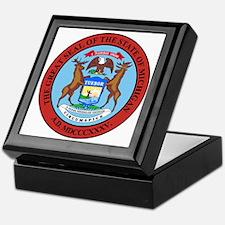Michigan State Seal Keepsake Box