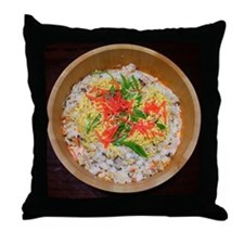 Shojin Sushi Throw Pillow