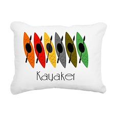 kayaker Dan Rectangular Canvas Pillow