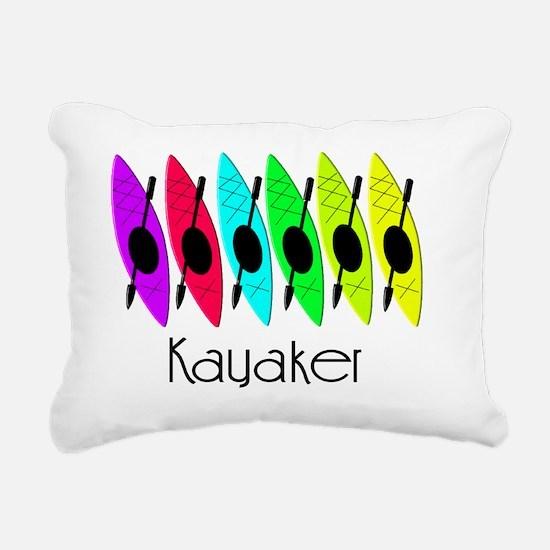 kayaker joanne Rectangular Canvas Pillow
