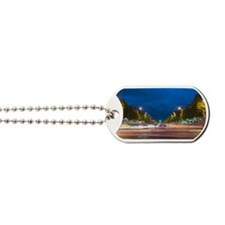 Beautiful night view of Champs elysees Dog Tags