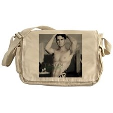 Tristan Tattoo Poster-BW Messenger Bag