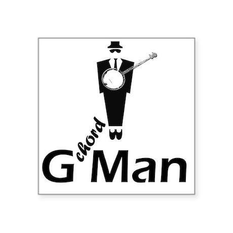 """G Chord Man Square Sticker 3"""" x 3"""""""